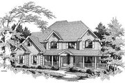 Country Style House Plan - 4 Beds 4 Baths 3054 Sq/Ft Plan #10-221