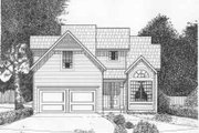 Traditional Style House Plan - 3 Beds 2.5 Baths 1368 Sq/Ft Plan #6-113