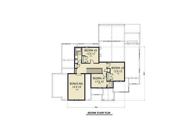 House Design - Craftsman Floor Plan - Upper Floor Plan #1070-64