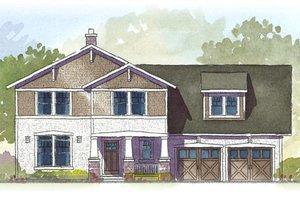 Craftsman style home, elevation