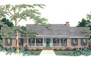 Ranch Exterior - Front Elevation Plan #406-232