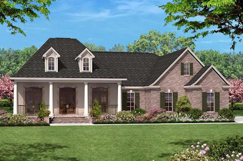 European Exterior - Front Elevation Plan #430-19