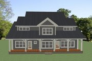 Country Style House Plan - 4 Beds 4.5 Baths 3001 Sq/Ft Plan #898-47 Exterior - Rear Elevation