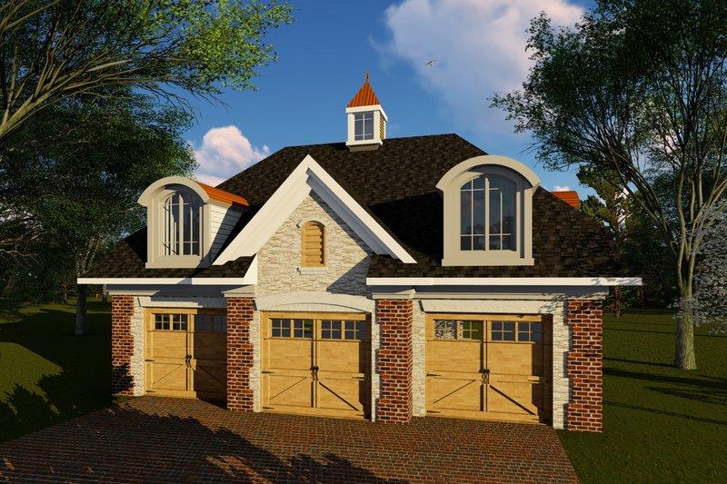 Cottage Exterior - Front Elevation Plan #70-1409