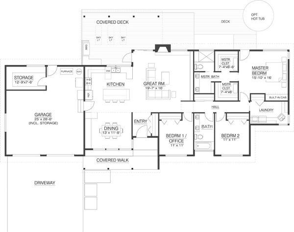 Modern Floor Plan - Main Floor Plan #519-2