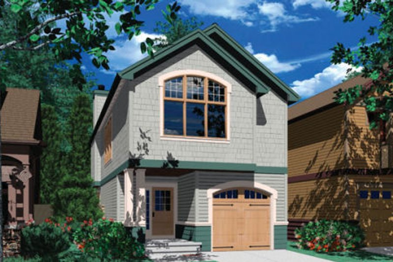Traditional Exterior - Front Elevation Plan #48-313 - Houseplans.com