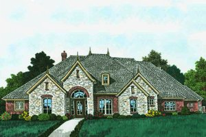 European Exterior - Front Elevation Plan #310-1310