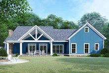 House Plan Design - Country Exterior - Rear Elevation Plan #923-129