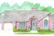 Traditional Style House Plan - 3 Beds 2.5 Baths 2055 Sq/Ft Plan #421-123 Exterior - Front Elevation