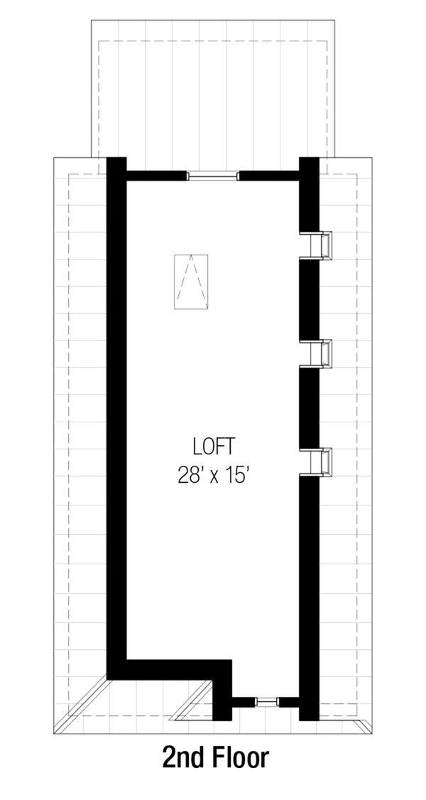 Cottage Floor Plan - Upper Floor Plan Plan #915-16