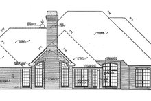 European Exterior - Rear Elevation Plan #310-494