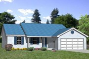 Ranch Style House Plan - 3 Beds 2 Baths 1221 Sq/Ft Plan #116-233 Exterior - Front Elevation