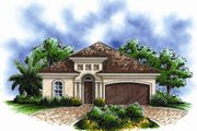 European Style House Plan - 3 Beds 2 Baths 1450 Sq/Ft Plan #27-434 Exterior - Front Elevation