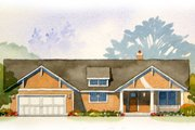 Craftsman Style House Plan - 4 Beds 3.5 Baths 2467 Sq/Ft Plan #901-45 Exterior - Front Elevation