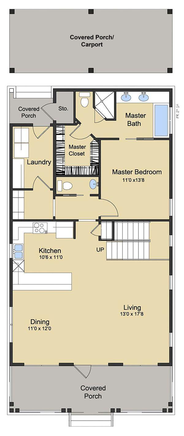 Beach Floor Plan - Main Floor Plan Plan #430-124