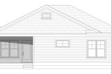 Country Exterior - Rear Elevation Plan #932-120