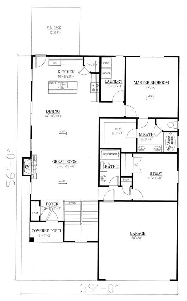 Cottage Floor Plan - Main Floor Plan Plan #437-117