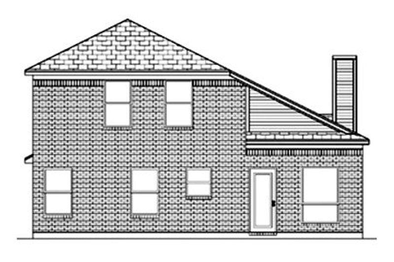 Traditional Exterior - Rear Elevation Plan #84-350 - Houseplans.com