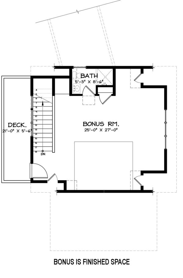 Craftsman Floor Plan - Upper Floor Plan Plan #895-19