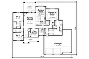 Craftsman Style House Plan - 4 Beds 4 Baths 3929 Sq/Ft Plan #20-2401 Floor Plan - Main Floor