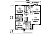 Contemporary Style House Plan - 2 Beds 1 Baths 963 Sq/Ft Plan #25-4265 Floor Plan - Main Floor Plan