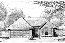Dream House Plan - European Exterior - Front Elevation Plan #410-296
