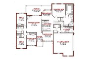 Traditional Style House Plan - 4 Beds 3.5 Baths 2346 Sq/Ft Plan #63-203 Floor Plan - Main Floor Plan