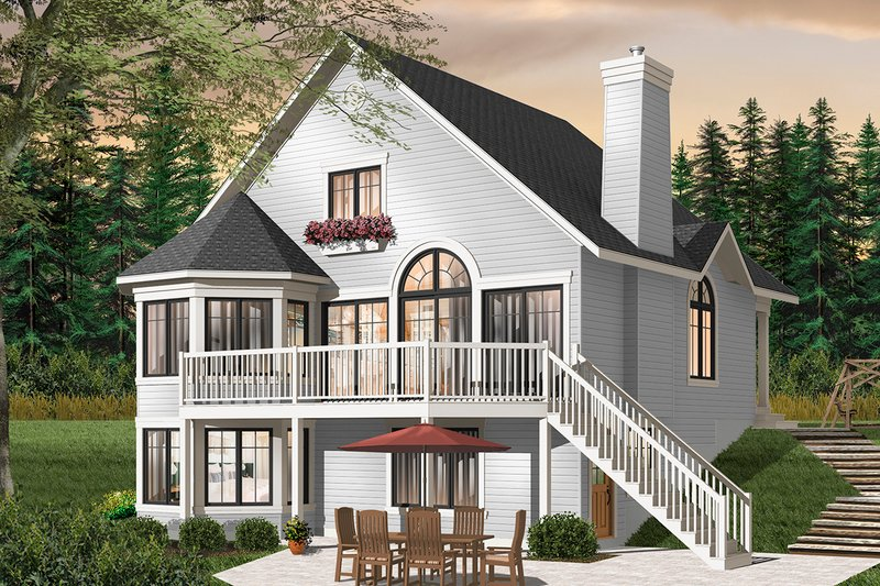 European Exterior - Rear Elevation Plan #23-2511
