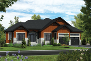 Ranch Style House Plan - 3 Beds 2 Baths 1836 Sq/Ft Plan #25-4456 Exterior - Front Elevation