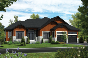 Ranch Exterior - Front Elevation Plan #25-4456