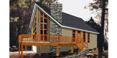 Modern Exterior - Front Elevation Plan #3-117