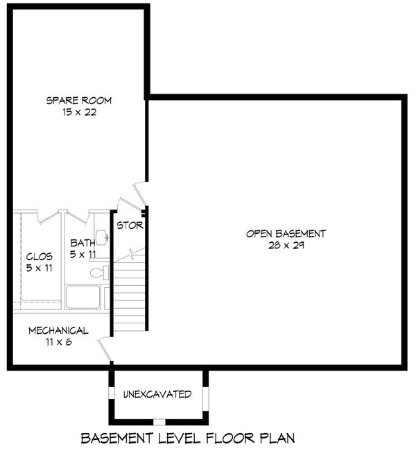 Country Floor Plan - Lower Floor Plan #932-145