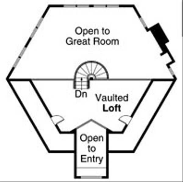 Ranch Floor Plan - Upper Floor Plan Plan #124-728