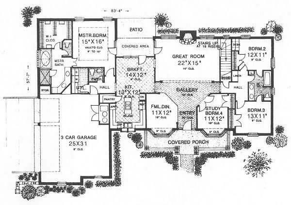European Floor Plan - Main Floor Plan Plan #310-618
