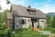 Cottage Style House Plan - 3 Beds 2 Baths 1587 Sq/Ft Plan #23-2313 Exterior - Front Elevation