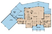 Contemporary Style House Plan - 3 Beds 2.5 Baths 3719 Sq/Ft Plan #923-86 Floor Plan - Main Floor Plan