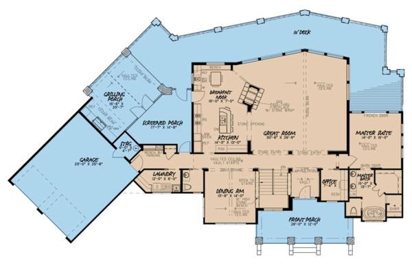 Contemporary Floor Plan - Main Floor Plan #923-86
