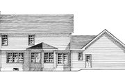 Colonial Style House Plan - 4 Beds 2.5 Baths 2050 Sq/Ft Plan #316-123 Exterior - Rear Elevation