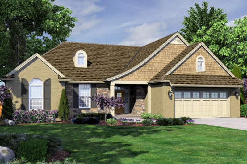 Dream House Plan - Country Exterior - Front Elevation Plan #46-459