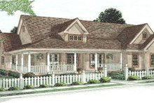 Dream House Plan - Farmhouse Exterior - Other Elevation Plan #20-167