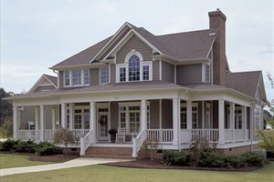 country farm house by David Wiggins huge wrap around porch