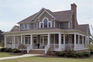 country farm house by David Wiggins huge wrap around porch