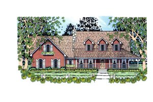 Country Exterior - Front Elevation Plan #42-369