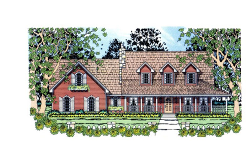 Country Style House Plan - 3 Beds 2.5 Baths 1782 Sq/Ft Plan #42-369