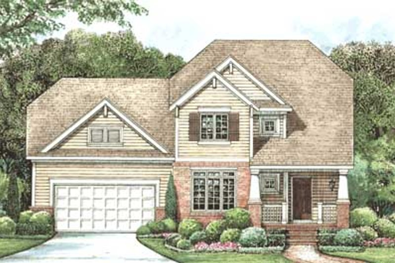 Traditional Exterior - Front Elevation Plan #20-1404 - Houseplans.com