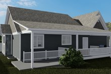 Cottage Exterior - Rear Elevation Plan #1060-64