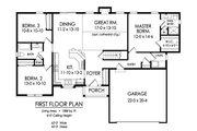 Ranch Style House Plan - 2 Beds 2 Baths 1588 Sq/Ft Plan #1010-4 Floor Plan - Main Floor Plan