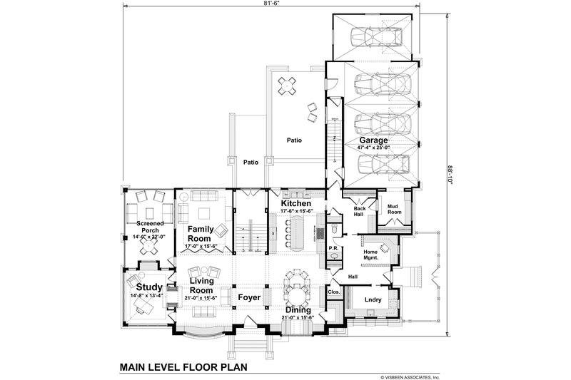 Craftsman Floor Plan - Main Floor Plan Plan #928-237