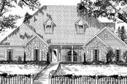 European Style House Plan - 4 Beds 2.5 Baths 2700 Sq/Ft Plan #62-139 Exterior - Front Elevation