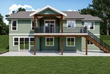 House Plan Design - Craftsman Exterior - Rear Elevation Plan #1070-130